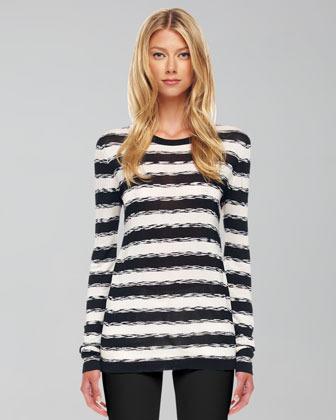 Michael Kors Striped Knit Sweater