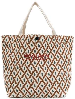 Woolrich patterned tote
