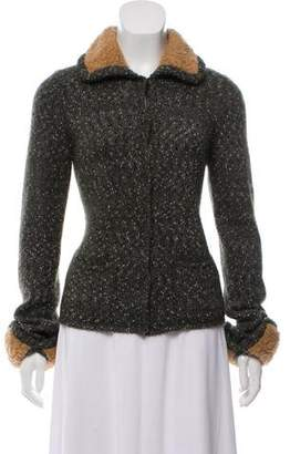 Prada Wool Long Sleeve Cardigan