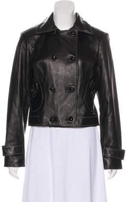 St. John Double-Breasted Leather Jacket
