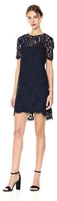 Tahari by Arthur S. Levine Women's Petite Short Sleeve Lace Sheath Dress