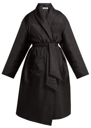 Katharine Hamnett Charlie Padded Satin Coat - Womens - Black