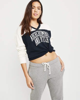 Abercrombie & Fitch Long-Sleeve Varsity Logo Tee