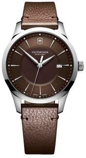 Victorinox Alliance Stainless Steel and Leather-Strap Watch