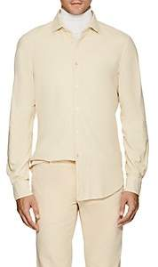 Boglioli Men's Cotton Corduroy Dress Shirt - Cream