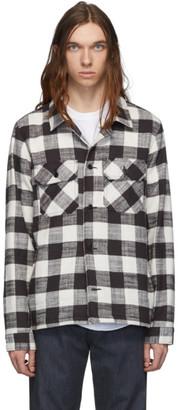 Naked & Famous Denim Denim Denim Black and White Slubby Check Work Shirt