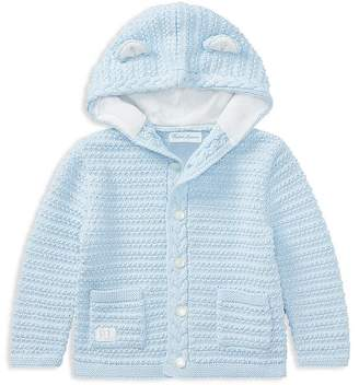 Ralph Lauren Boys' Hooded Cotton Cardigan with Bear Ears - Baby
