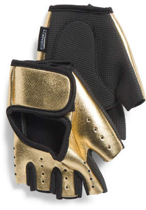 Metallic Workout Gloves