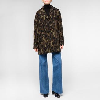 Women's Wool-Blend 'Animal Camo' Coat $795 thestylecure.com