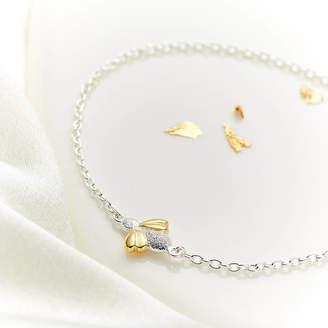 Molly Brown London Sterling Silver Flower Girl Honey Bee Bracelet