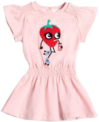 Fendi Strawberry Cola Cotton Jersey Dress