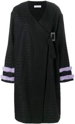 Saks Potts fur-trimmed kimono coat