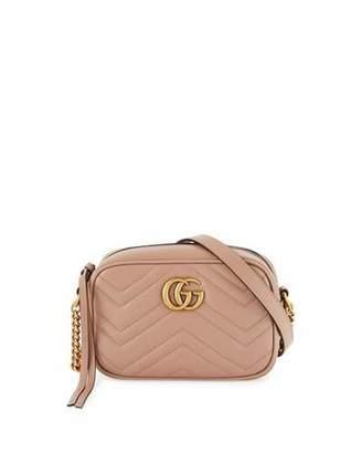 Gucci GG Marmont Mini Matelassé Camera Bag, Nude $980 thestylecure.com