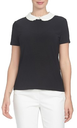 Women's Cece Pleat Collar Colorblock Top $74 thestylecure.com