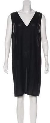 Ann Demeulemeester Wool Shift Dress Black Wool Shift Dress