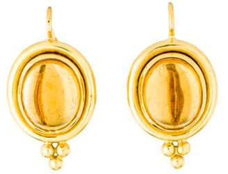 Temple St. Clair 18K Citrine Classic Oval Earrings yellow 18K Citrine Classic Oval Earrings