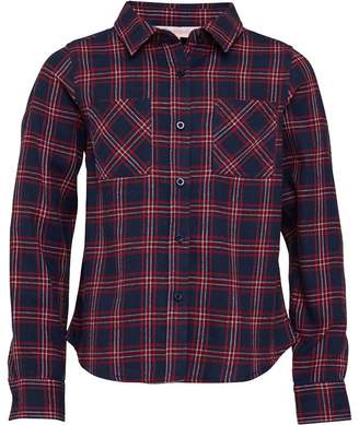 Board Angels Girls Long Sleeve Yarn Dyed Checked Shirt Navy/Red