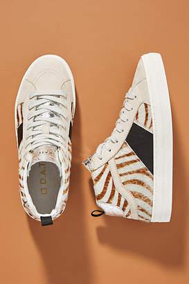 D.A.T.E Zebra High-Top Sneakers