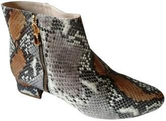 4699f04ba2ef Tara Jarmon Grey Leather Ankle boots