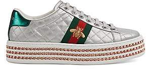 Gucci Women's New Ace Platform Leather Sneakers