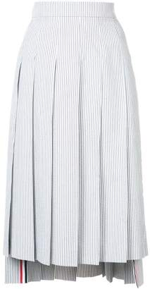 Thom Browne striped midi pleated skirt