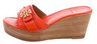 Tory Burch Elina 80 Leather Wedges