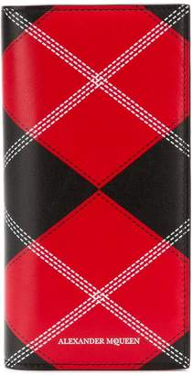 Alexander McQueen vertical plaid patterned cardholder