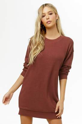 Forever 21 Brushed Knit Sweatshirt Dress