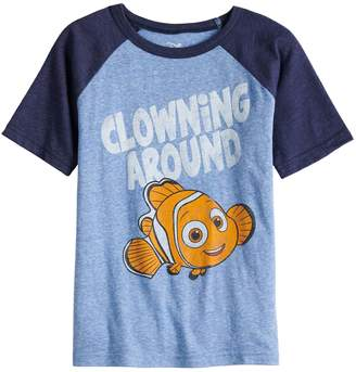 "Disneyjumping Beans Disney / Pixar Finding Nemo Boys 4-10 ""Clowning Around"" Raglan Graphic Tee by Jumping Beans"