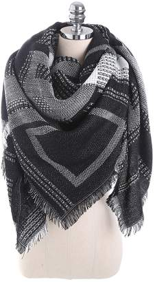 Canvalite Women's Weave Stripes Blanet Scarf Long Warm Winter Big Long Scarves for Casual Business