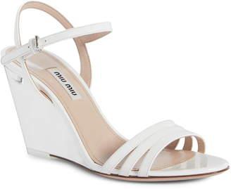 Miu Miu Clear Wedge Heel Sandal