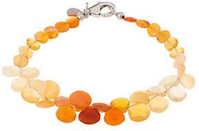 QVC Colors of Fire Opal Bead BraceletSterling