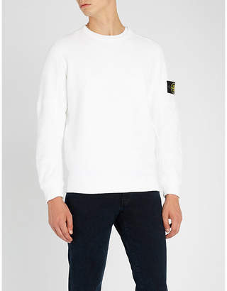 Stone Island Logo-embroidered cotton-jersey sweatshirt