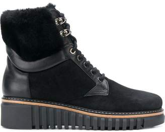 Loriblu fur and leather trim ankle boots