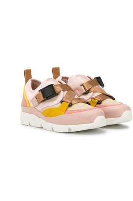Chloé Kids buckled strap sneakers