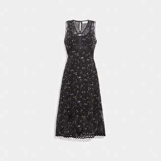 Coach Wildflower Print Sleeveless Dress