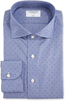 Lorenzo Uomo Men's Dotted Houndstooth Dress Shirt