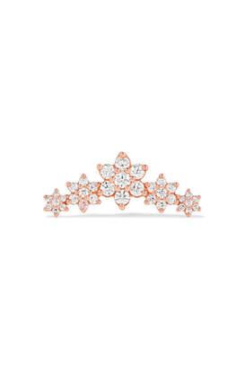 Maria Tash - Flower Garland 18-karat Rose Gold Diamond Earring