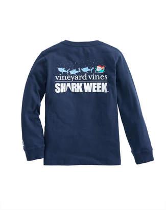 Vineyard Vines Kids Long-Sleeve Shark Week Santa Whale Rudolph T-Shirt