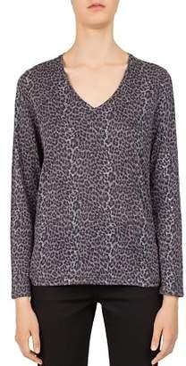 Gerard Darel Nina Long-Sleeve Leopard-Print Tee