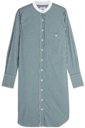 Closed Striped Shirt Dress