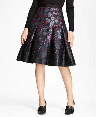 Brooks Brothers Floral Jacquard Flared Skirt