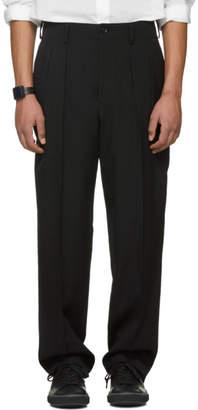 Yohji Yamamoto Black Tuck Trousers