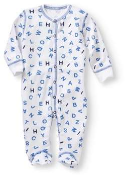 Baby Steps Newborn Baby Boy Footie Coverall Pajama