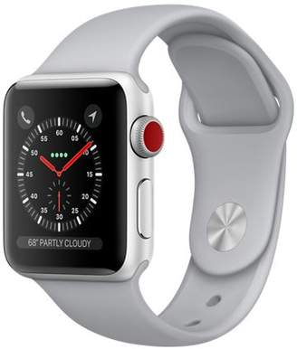 Apple Refurbished Watch Series 3 GPS + Cellular, 42mm Space Gray Aluminum Case with Gray Sport Band