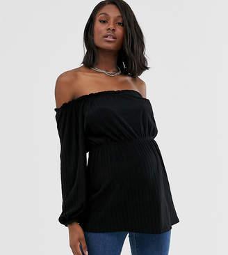 Mama Licious Mama.Licious Mamalicious maternity off shoulder long sleeved top