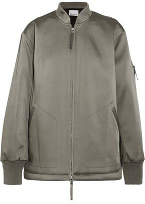 Alexander Wang Oversized Satin Bomber Jacket