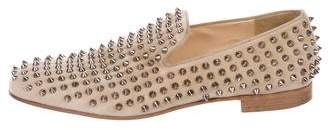 Christian Louboutin Suede Spike Smoking Slippers