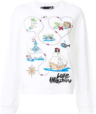 Love Moschino embroidered sweatshirt