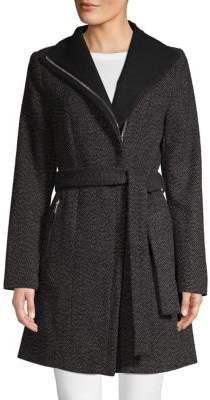 Tahari Textured Self-Tie Jacket